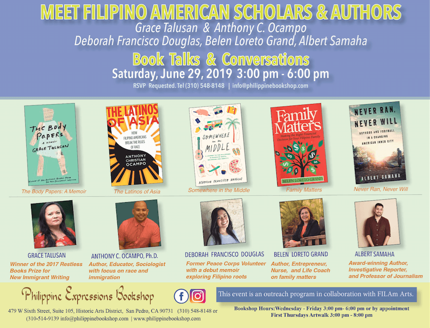 Fil-Am authors and scholars to hold book talk on June 29