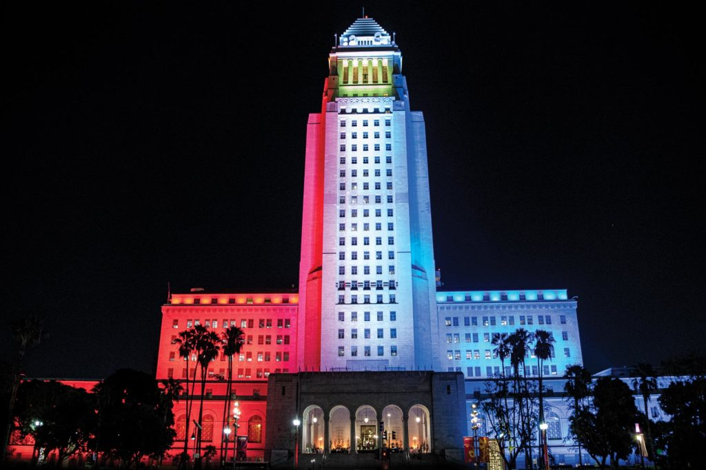 LA City Hall lights up in honor of Fil-Am History Month